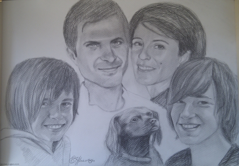 Portret familie si caine