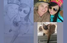 Bunicuta, pisica si nepotica desenate