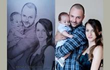 Familie desenata de Anca Suiugan