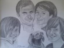 Portret familie si caine