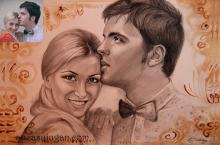 Cadou de logodnă desenat
