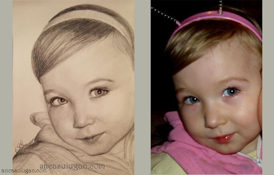 Fetita cu cordeluta | portret de Anca Suiugan