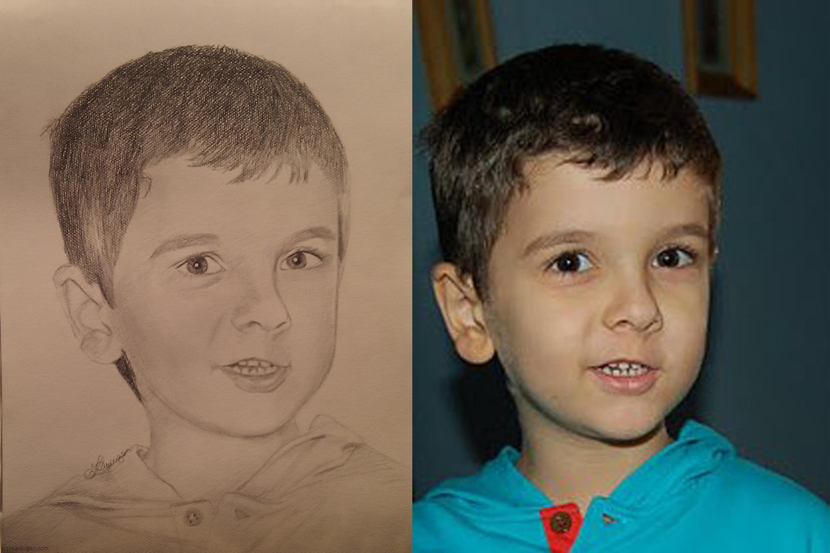 Portretul desenat al unui baietel