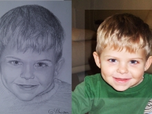 Portret desenat al unui copil