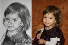 Fetiță desenată
