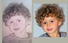 Portretul unui copil cu parul cret | portret de Anca Suiugan