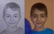 portretul desenat al unui copilas