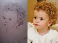 Portretul unei fetite blonde