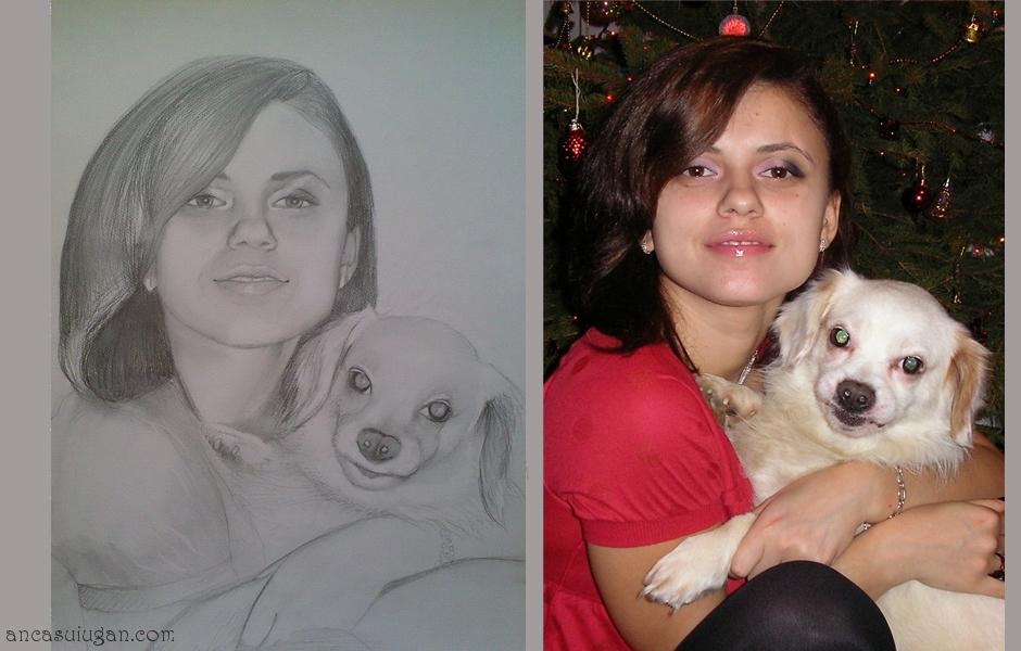 Portret in creion dim A3