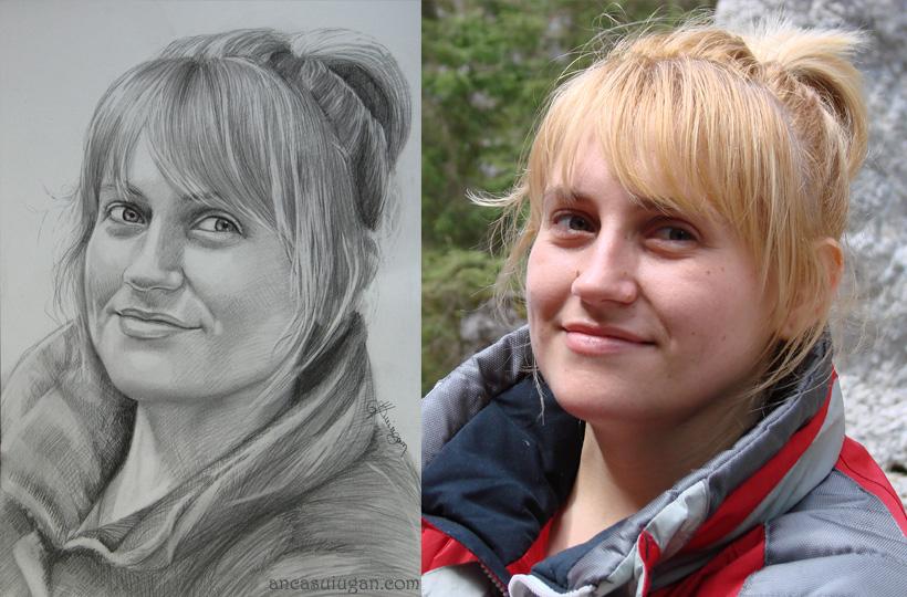 portretul unei blonde   Anca Suiugan