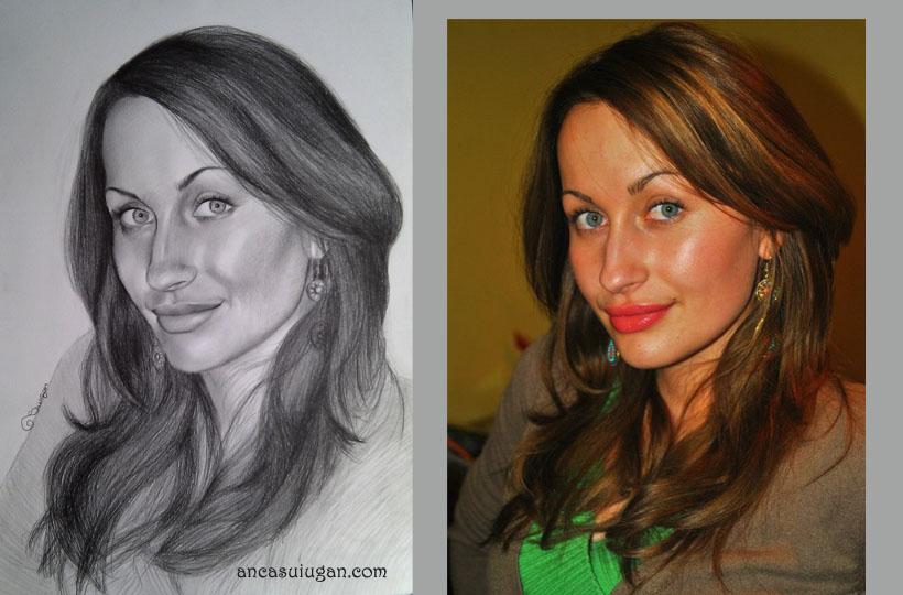 portret creionat    Anca Suiugan