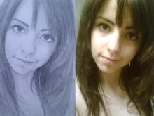 portret domnisoara