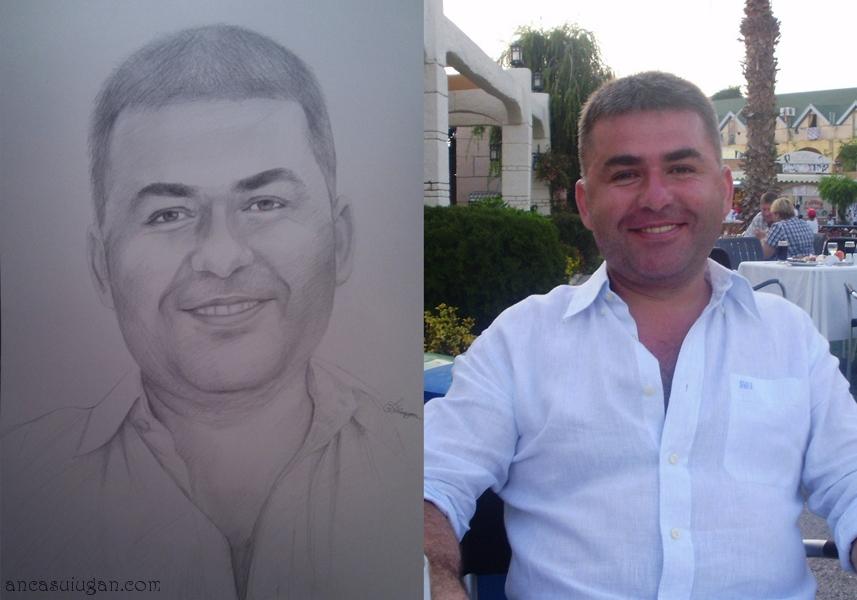 portret desenat cadou