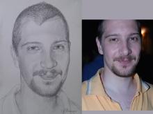 Portret desenat al unui tanar