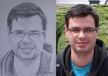 portret in creion cu un domn