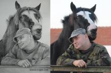 portret de domn cu un cal  | Anca Suiugan