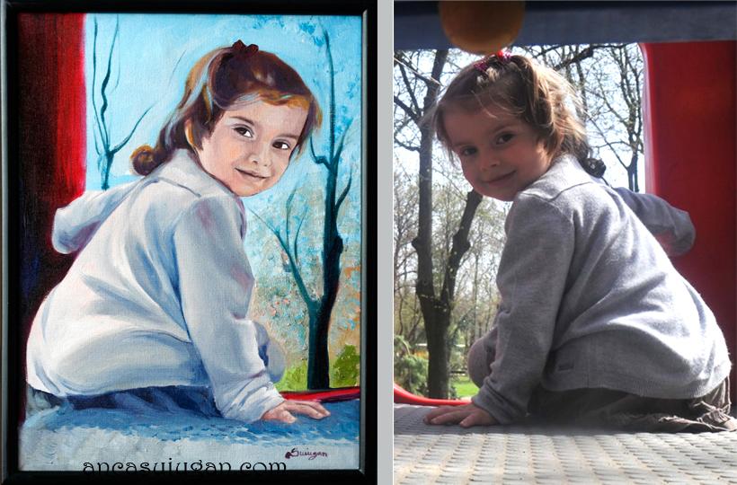 pictura cu o fetita | de Anca Suiugan