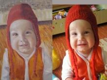 Portret pictat in ulei al unui bebelus | de Anca Suiugan